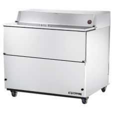 True® 2-Door S/S 20.9 Cu Ft Milk Cooler w/ White Aluminum Interior