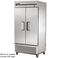 True® T-35 T-Series Solid 2-Door 6-Shelf Refrigerator With Legs