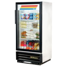 True GDM-10-LD White Swing Door 10 Cu Ft Refrigerator Merchandiser