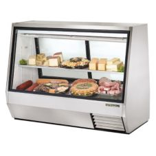 True TDBD-72-2 2-Sliding Door 1-Full Shelf 35 Cu Ft Deli Case
