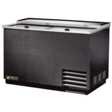 True T-50-GC 50 Cu Ft 5-Shelf Black Glass And Plate Chiller