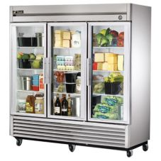 True® T-Series 3-Glass Full Door Reach-In 72 Cu Ft Refrigerator