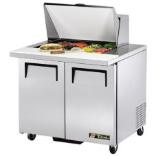 True® TSSU-36-12M-B S/S 8.5 Cu Ft 12-Pan Top Sandwich / Salad Unit