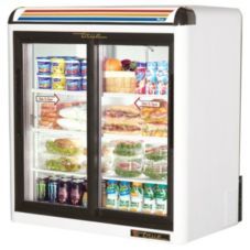 True® White Glass Door Countertop Refrigerator, 9 Cubic Ft
