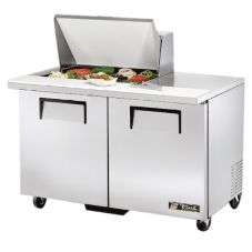 True® TSSU-48-12M-B S/S 12 Cu Ft 12-Pan Top Sandwich / Salad Unit