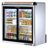 True® S/S Glass Door Countertop Refrigerator, 9 Cubic Ft