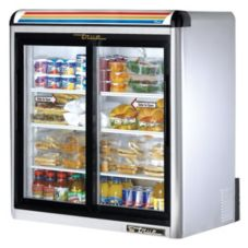 True® GDM-9-S-LD S/S Glass Door 9 Cu Ft Countertop Refrigerator