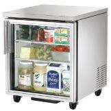 True TUC-27G Glass Door 2-Shelf 6.5 Cu Ft Undercounter Refrigerator