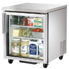 True TUC-27G Glass Door 2-Shelf 6.5 Cu Ft Undercounter Refrigerator
