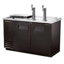 True® Black Club Top Direct Draw Beer Dispenser f/ 2 Half-Barrels