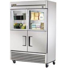 True® T-Series 2-Solid / 2-Glass Half Door Reach-In Refrigerator