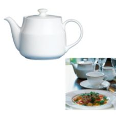 Steelite 42044328 Ronde de les Anges 20 Oz Tea Pot - 6 / CS