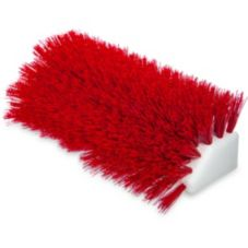 "Carlisle® 4042305 Sparta® 10"" Red Hi-Lo Floor Scrub Brush"