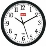 "Black 8"" Battery Operated Wall Clock"