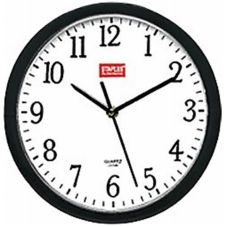 "Staples Advantage 775221 Black 8"" Battery Operated Wall Clock"