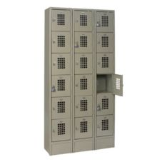 Win-Holt® WL-618/15 Three Column Locker w/ Six Lockers per Column