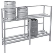 Channel KSR72 Two-Shelf Keg Storage with 8 Keg Capacity