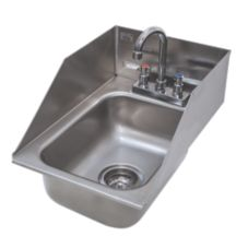 Advance Tabco DI-1-10SP S/S 13 x 19 x 10 Sink W/ Rear And Side Splash