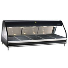Alto-Shaam ED2-72/PR-BLK Halo Heat Countertop Full-Serve Display Case