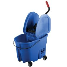 Rubbermaid® FG757888BLUE WaveBrake® Down Press Mop Combo