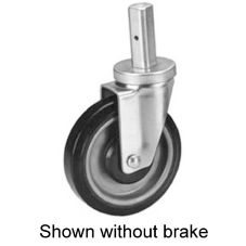 "Win-Holt® 7593BK Swivel Stem Caster with 4"" Poly Wheel"