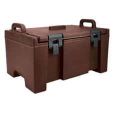 Cambro UPC100131 Dark Brown 100 Series Ultra Food Pan Carrier with Lid
