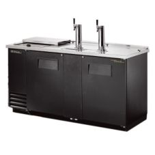True® Black Club Top Direct Draw Beer Dispenser f/ 3 Half-Barrels