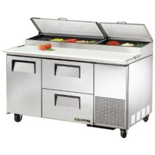 True® 1 Left-Hinged Door 2-Drawer S/S Pizza Prep Table