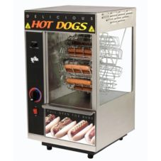 Star® Mfg. Broil-O-Dog Hot Dog Broiler w/ Bun Warmer Compartment