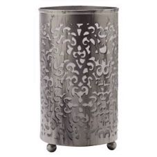 "Sterno Products 80166 Silver Matte 5.5"" Candle Holder - 6 / CS"