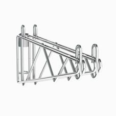 "Metro 2WS18C Super Erecta® Post Mount 18"" Chrome Shelf Supports"