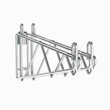 "Metro 2WS18C Super Erecta® Post Mount 18"" Chrome Shelf Supports"