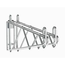 "Metro 2WS21C Super Erecta® Post Mount 21"" Chrome Shelf Supports"