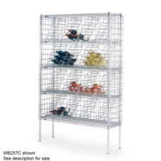 "Metro WB258C Chrome 14"" x 48"" x 86-3/4"" Bulk Storage Wine Shelving"