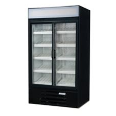 Beverage-Air LV38-1-B LumaVue Black Reach-In Refrigerated Merchandiser