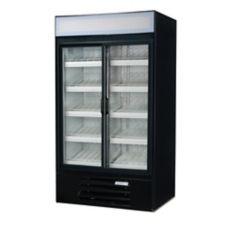 Beverage-Air LV38-1-B LumaVue Black Reach-In Refrigerated Merchandiser