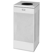 Rubbermaid FGSC14SSPL Silhouette Square S/S Open Top 16 gal Receptacle