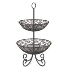 TableCraft BKT2 Mediterranean Collection Black 2-Tier Display / Legs