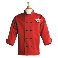 Uncommon Thread 0405RL Red Large Chef Coat With Thermometer Pocket