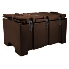 Cambro 100MPCHL131 Dark Brown Camcarrier Pan Carrier with Hinged Lid