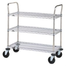 "Metro® 3SPN33ABR 18 x 36"" Cart With 3-Super Erecta® Shelves"