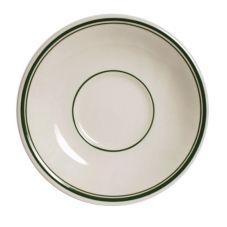 "Tuxton® TGB-002 Green Bay 6"" Eggshell Demitasse Saucer - 36 / CS"