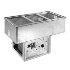 Atlas Metal WCMD-C-2 Two Pan Size Refrigerated Cold Food Drop-In Unit