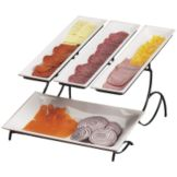 Cal-Mil 1406-15 Wire Two Tier Display with 3 White Display Trays
