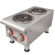 APW Wyott EHPI 208V Electric Countertop Dual Burner Hot Plate