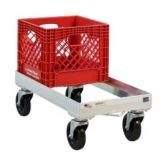 New Age Industrial 1620 Open Frame Milk Crate Dolly w/ Swivel Casters