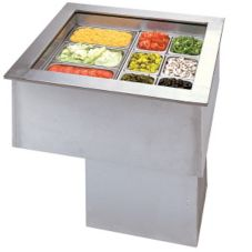 APW Wyott CW-4 Drop-In 1/5 HP Refrigerated 4-Pan Cold Food Unit