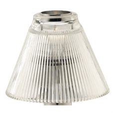 SternoCandleLamp™ 85446 Clear Pleated Shade