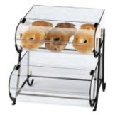 """Cal-Mil 1281-2 Wire 3 Tier Stand w/ (2) 13 x 18"""" Round Nose Bins"""
