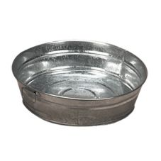 American Metalcraft MTUB12 Round Natural Finish Galvanized 12 Inch Tub